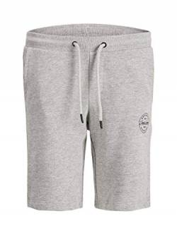 Jack & Jones Junior Jungen JJI Shark JJSWEAT VIY JR NOOS Lässige casual Shorts, Light Grey Melange, 152 von JACK & JONES