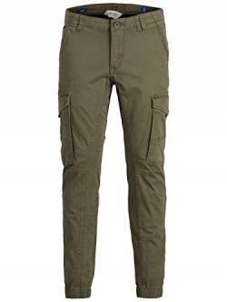 JACK & JONES Herren Cargohose Boys 134Olive Night von JACK & JONES