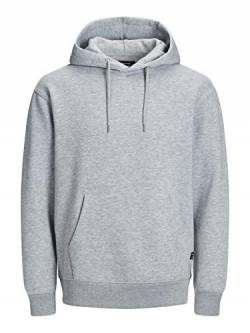 JACK & JONES NOS Herren JJESOFT Sweat Hood NOOS Kapuzenpullover, Grau (Light Grey Melange Fit: Relax), Large (Herstellergröße: L) von JACK & JONES