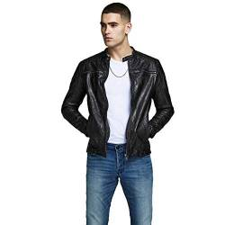JACK & JONES Herren Jjeliam Leather Jacket Noos Jacke, Schwarz (Black Black), M EU von JACK & JONES
