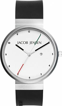 JACOB JENSEN Unisex-Armbanduhr JACOB JENSEN NEW SERIES NO. 703 Analog Quarz Kautschuk JACOB JENSEN NEW SERIES NO. 703 von Jacob Jensen