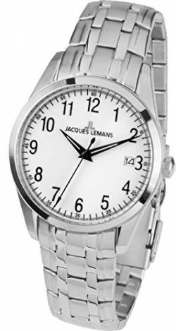 JACQUES LEMANS Herrenuhr Liverpool Metallband massiv Edelstahl 1-1769G von JACQUES LEMANS