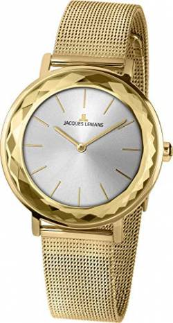 Jacques Lemans Damen-Uhren Analog Quarz One Size Gold 32016504 von JACQUES LEMANS