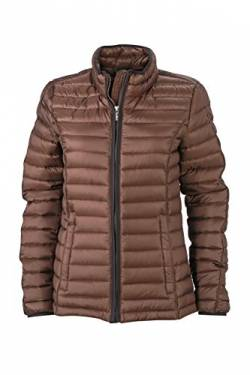 James & Nicholson Damen Jacke Jacke Ladies Quilted Jacket braun (Coffee/Black) Large von James & Nicholson