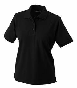 James & Nicholson Damen Ladies' Polo Poloshirt, schwarz Black), Large von James & Nicholson