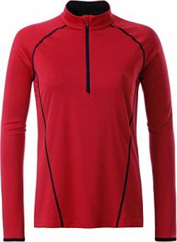 James & Nicholson Damen T-Shirt Ladies' Sportsshirt Longsleeve, Rot (Red/Black), Large von James & Nicholson