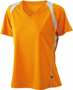 James & Nicholson Damen T-Shirt Running T Medium orange/white von James & Nicholson