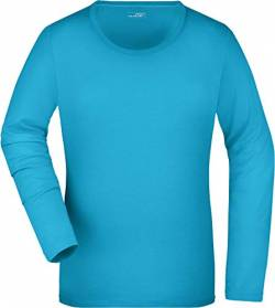 James & Nicholson Damen T-Shirt  Stretch Longsleeve X-Large turquoise von James & Nicholson