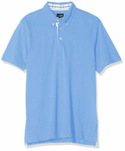 James & Nicholson Herren Men´s Plain Polo Poloshirt, Blau (Glacier-Blue-White), XXX-Large von James & Nicholson