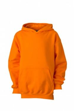 James & Nicholson Jungen Hooded Sweat Junior Sweatshirt, orange), Medium (Herstellergröße: M (122/128)) von James & Nicholson