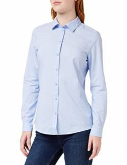 JdY Damen JDYMIO L/S Shirt WVN NOOS Bluse, Blau (Cashmere Blue Stripes: Cloud Dancer), 42 von JdY