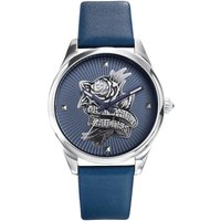 Jean Paul Gaultier Navy Tattoo Navy Tattoo Damenuhr in Blau JP8502413 von Jean Paul Gaultier