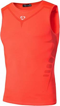 jeansian Herren Sportswear Quick Dry Sleeveless Sports Tank Tops LSL207 Orange XL von jeansian