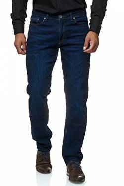 Jeel Herren-Jeans - Slim-Fit - Stretch - Jeans-Hose Basic Washed - 01-Navy 33W/34L von Jeel