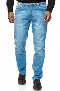 Jeel Herren-Jeans - Slim-Fit - Stretch - Jeans-Hose Basic Washed - 02-Hellblau 33W/32L von Jeel
