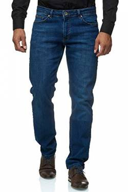 Jeel Herren-Jeans - Slim-Fit - Stretch - Jeans-Hose Basic Washed - 03-Blau 32W/34L von Jeel