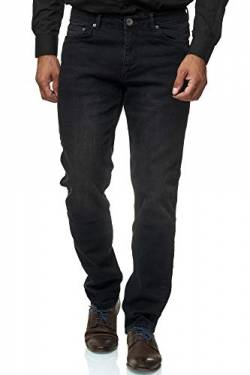 Jeel Herren-Jeans - Slim-Fit - Stretch - Jeans-Hose Basic Washed - 06-Schwarz 33W/32L von Jeel