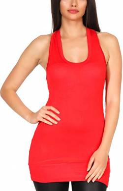 stretchy Basic Longtop Racerback (32-36), Red von Jela London