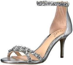 Jewel Badgley Mischka Damen Caroline RiemchenPumps, Silber (Silver Metallic 46), 38.5 EU von Jewel Badgley Mischka