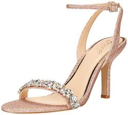 Jewel Badgley Mischka Damen OJAI Sandalen mit Absatz, Rose Gold, 36.5 EU von Jewel Badgley Mischka