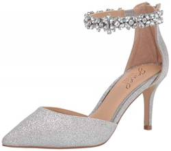 Jewel by Badgley Mischka Damen Raleigh Pumps, (Silber Glitter), 38.5 EU von Jewel Badgley Mischka