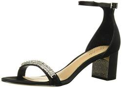Jewel Badgley Mischka Damen RAMSAY Sandalen mit Absatz, Black Satin, 36 EU von Jewel Badgley Mischka