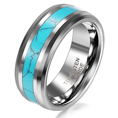Wei/ß Schwarz Grau JewelryWe Schmuck 3pcs Silikon Eheringe Gr/ö/ße 52 bis 67 Gummi Hochzeit Bands Gummib/änder Ring f/ür Herren M/änner