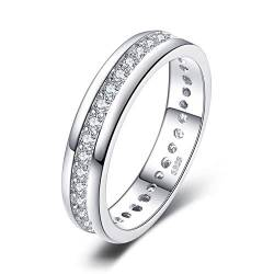 JewelryPalace Zirkonia Jubiläum Ehering Ring Kanal Set 925 Sterling Silber von JewelryPalace