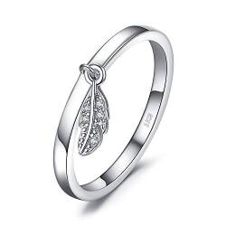 JewelryPalace Dangle Leaf Charm Federring 925 Sterling Silber von JewelryPalace