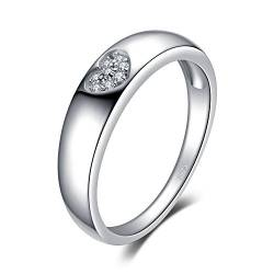 JewelryPalace Herz Liebe Zirkonia Ehering Ring 925 Sterling Silber von JewelryPalace