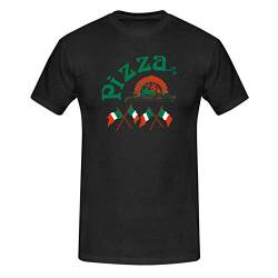 T-Shirt Pizzeria Pizza-Lovers Karneval Fun-Shirt Party 13 Farben Herren XS - 5XL Fasching Verkleidung lustig kreativ, Größe: L, Farbe: schwarz von Jimmys Textilfactory