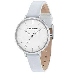 Julie Julsen Damen Quarz Armbanduhr - Silver Light Blue JJW10SL-4 von Julie Julsen