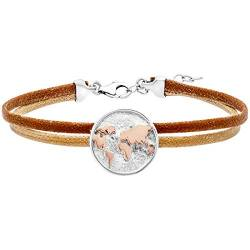 Julie Julsen Damen Armband Sterling Silber 925 Bicolor, Leder Poems of Life - JJBR0705.8 von Julie Julsen