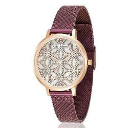 Julie Julsen JJW1235G34-RGVME Flower of Love Uhr vergoldet 3 bar Analog Lila von Julie Julsen