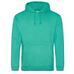 Just Hoods College Hoodie L,Spring Green von Just Hoods