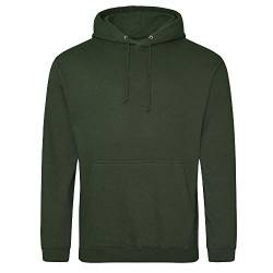 Just Hoods College Hoodie S,Forest Green von Just Hoods