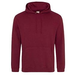 Just Hoods College Hoodie XXL,Burgundy von Just Hoods