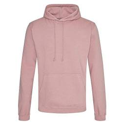 Just Hoods - Unisex College Hoodie/Dusty Pink, M von Just Hoods