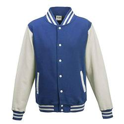 Just Hoods - Unisex College Jacke 'Varsity Jacket' BITTE DIE JH043 BESTELLEN! Gr. - S - Royal Blue/White von Just Hoods