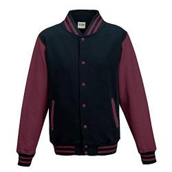 Just Hoods - Unisex College Jacke 'Varsity Jacket' BITTE DIE JH043 BESTELLEN! Gr. - XL - Oxford Navy/Burgundy von Just Hoods