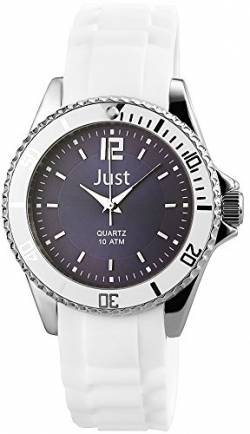 Just Watches Damen Analog Quarz Uhr mit Kautschuk Armband 48-S3863-DBL von Just Watches