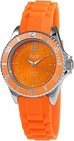 Just Watches Damen-Armbanduhr Analog Quarz Kautschuk 48-S3857-OR von Just Watches