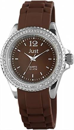 Just Watches Damen-Armbanduhr Analog Quarz Kautschuk 48-S3859-BR von Just Watches