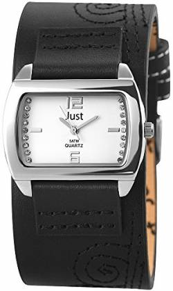 Just Watches Damen-Armbanduhr Analog Quarz Leder 48-S10419-SL-BK von Just Watches