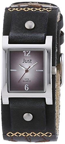 Just Watches Damen-Armbanduhr Analog Quarz Leder 48-S10626-BR-BK von Just Watches