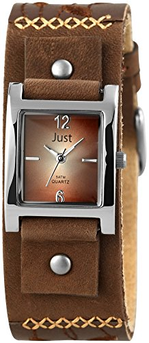 Just Watches Damen-Armbanduhr Analog Quarz Leder 48-S10626-BR von Just Watches