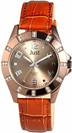 Just Watches Damen-Armbanduhr Analog Quarz Leder 48-S3928-CO von Just Watches