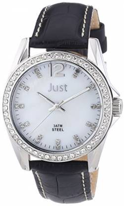 Just Watches Damen-Armbanduhr Analog Quarz Leder 48-S8194WH-BK von Just Watches