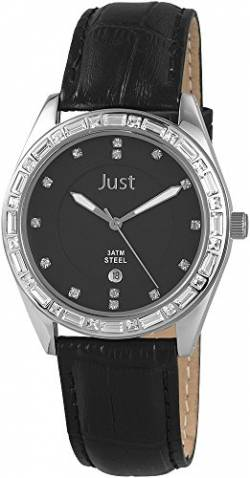 Just Watches Damen-Armbanduhr Analog Quarz Leder 48-S8262A-BK von Just Watches