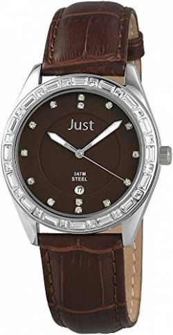 Just Watches Damen-Armbanduhr Analog Quarz Leder 48-S8262A-BR von Just Watches